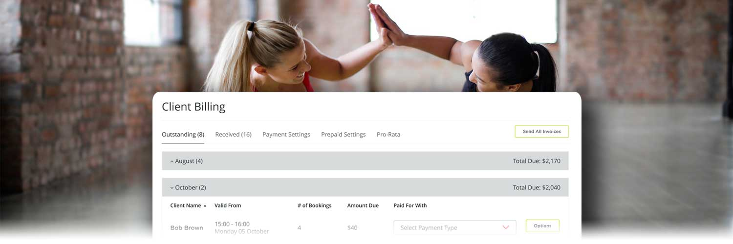 Bookamat yoga & pilates studio software with billing and invoicing